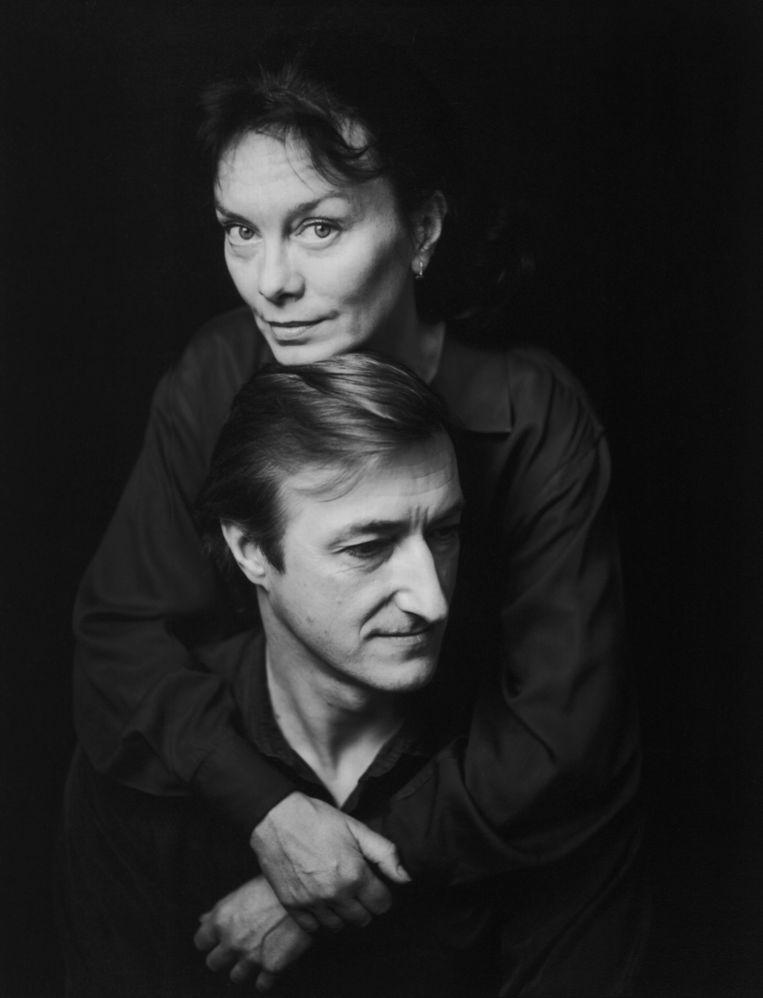 Julian Barnes met zijn in 2008 overleden vrouw Pat Kavanagh. Hij omschreef haar dood als 'een catastrofe'. Beeld CAMERA PRESS/Jillian Edelstein