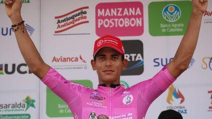 KOERS KORT: Colombiaan Andres Nelson Soto juicht in Ronde van Madrid