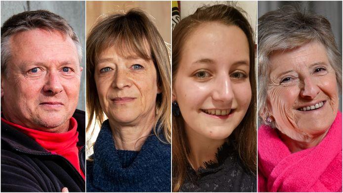 Frank Mallentjer, Claudy Vanwalleghem, Sarah Wandels en Linda Debois zitten nog steeds met vragen over de beslissing om AstraZeneca enkel toe te dienen aan mensen van 56 of ouder.