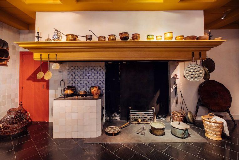 De nagebouwde keuken van Rembrandt Beeld Museum Het Rembrandthuis