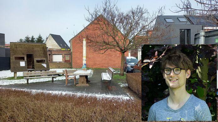 Alec Lambert betreurt dat een deel van het buurtplein zonder enig overleg wordt verkocht voor de aanleg van een private tuin.