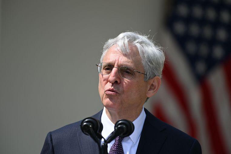 Amerikaans minister van Justitie Merrick Garland is een van de regeringsleden die van Rusland het land niet meer binnen mag. Beeld AFP