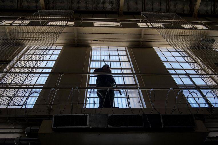 Een bewaker in San Quentin. Beeld getty