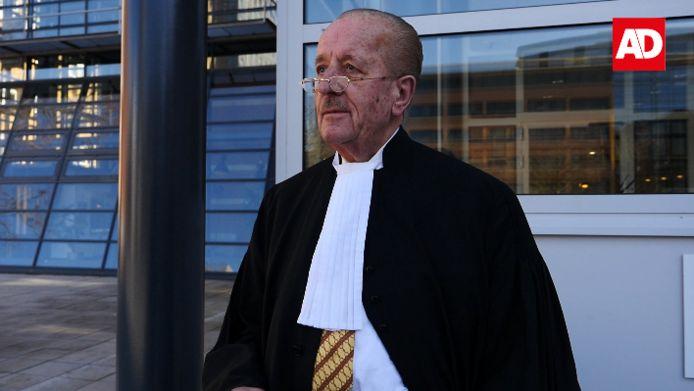 Theo Hiddema, eerder dit jaar, voor de rechtbank in Utrecht.