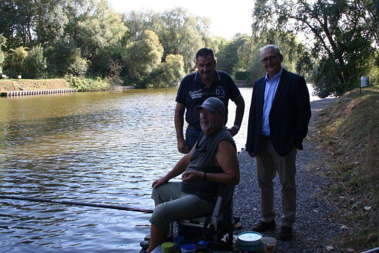 Grand-Pont vissers in betere tijden, met rechts Philippe Smets
