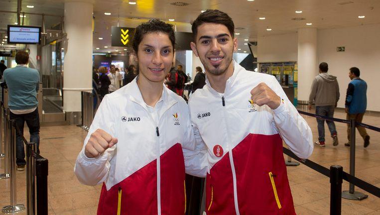 Raheleh Asemani en Jaouad Achab. Beeld belga