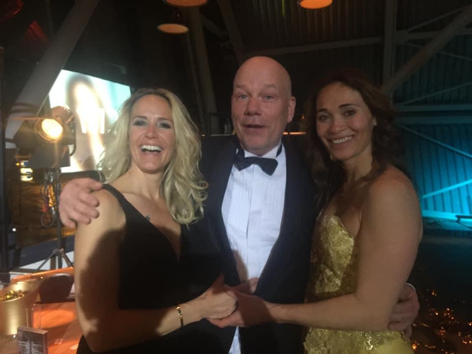 Menno Koelewijn en Bibian Mentel tijdens het gala voor de Mentelity Foundation.