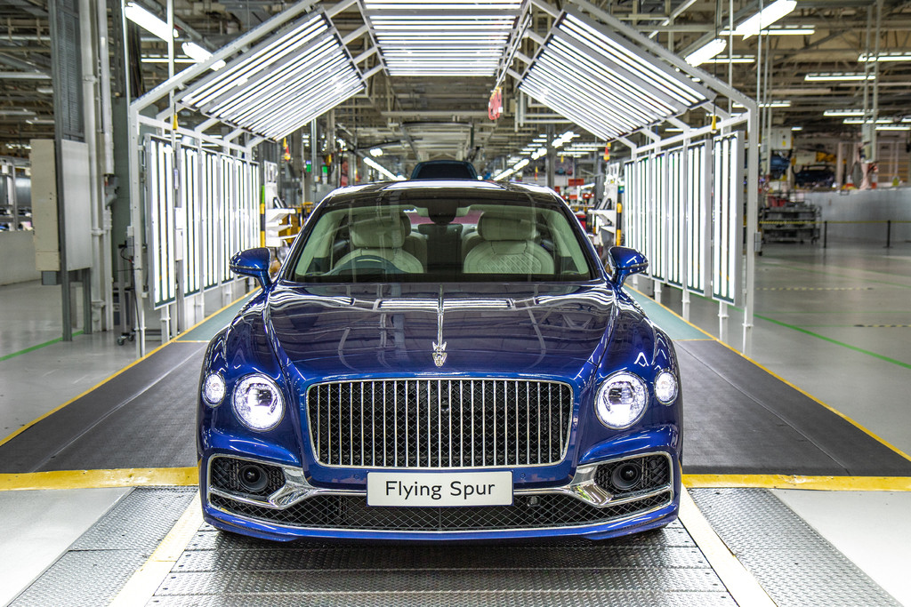 De Bentley-fabriek in Crewe in Engeland