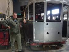 Haarlemmer Wim bouwt de iconische Blauwe tram na: 'Haarlemser dan dit krijg je het niet'