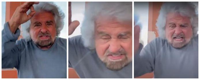 Een woedende Beppe Grillo schreeuwt uit dat zijn zoon (20) onschuldig is.