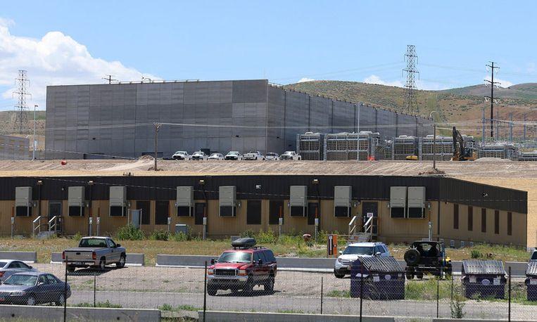 Een deel van het in aanbouw zijnde NSA-datacentrum in Bluffdale, Utah. Beeld epa