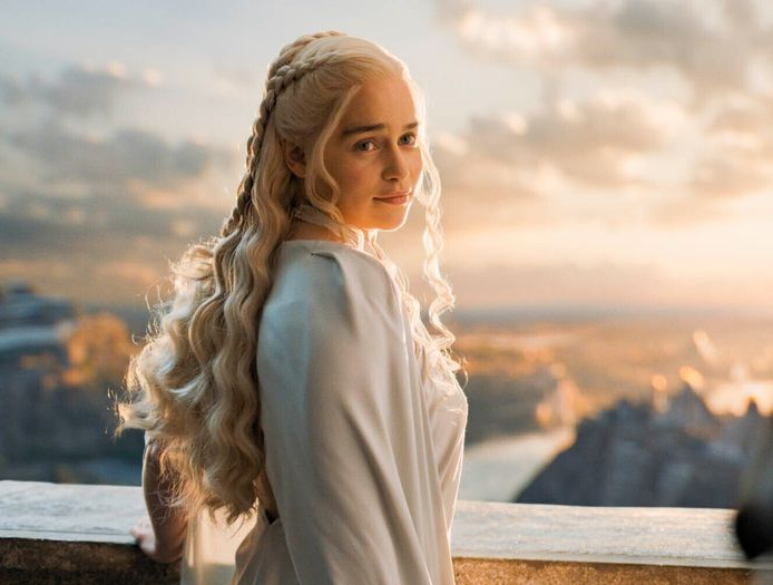 Aan het kapsel van Daenerys werd maar liefst 2 maanden gewerkt.