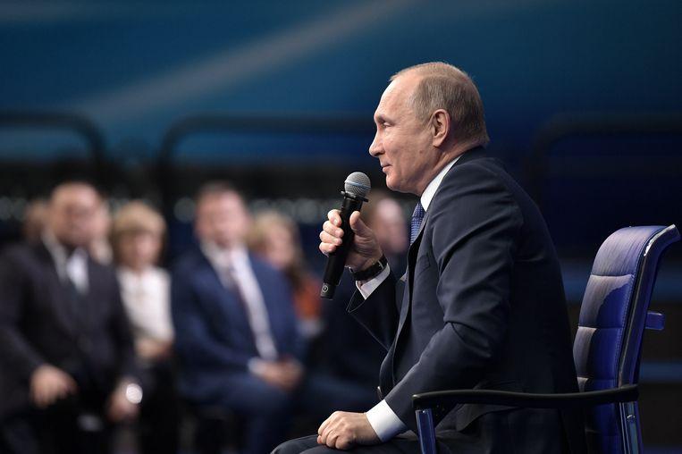 De Russische president Vladimir Poetin is