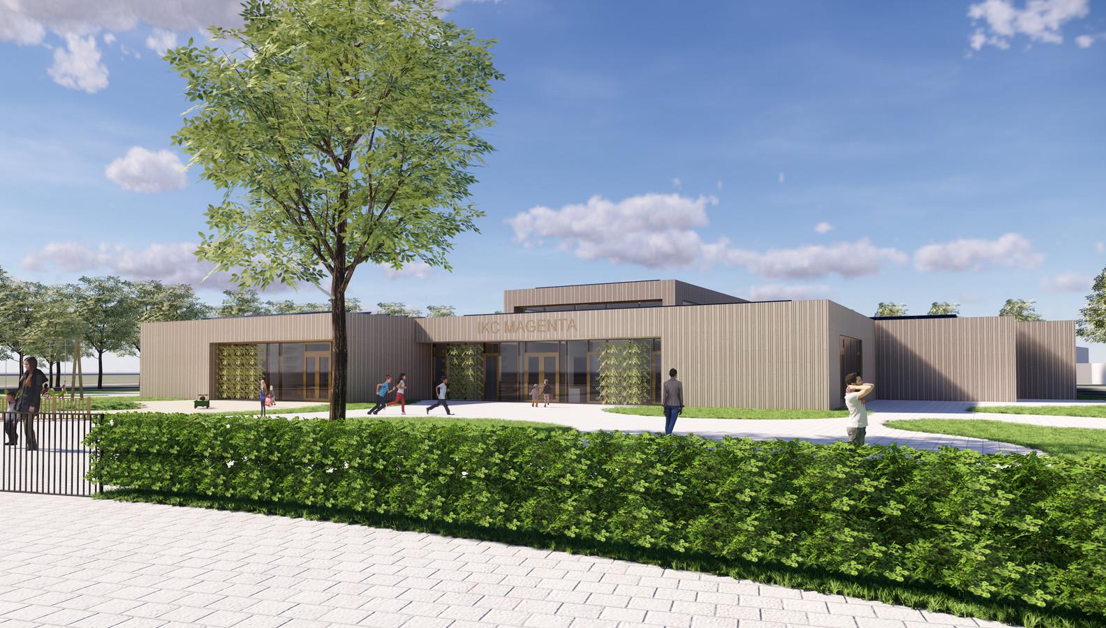 Impressie van de hoofdentree van IKC Magenta in Delden.