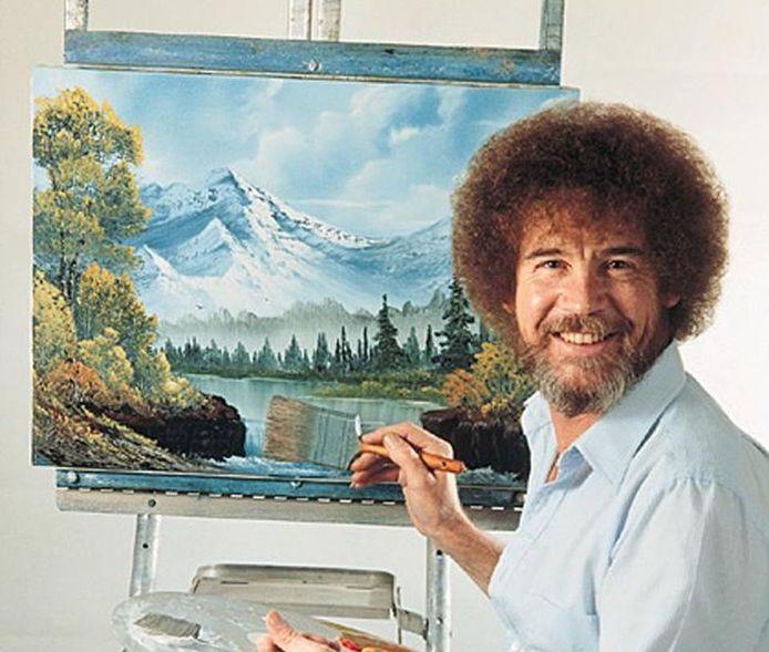 Bob Ross werd werelberoemd met zijn programma 'The Joy of Painting'