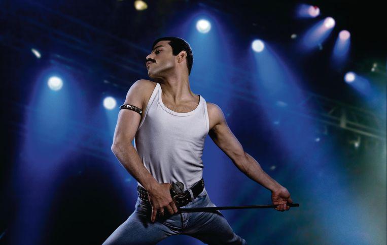 Rami Malek als Freddie Mercury in 'Bohemian Rhapsody'. Beeld rv
