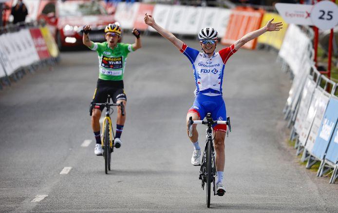Gaudu wint de rit, Roglic pakt de eindzege.