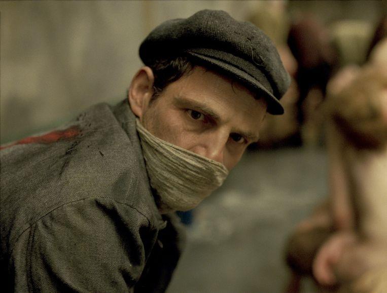 Acteur Géza Röhrig als hoofdpersonage Saul. Beeld Ad Vitam
