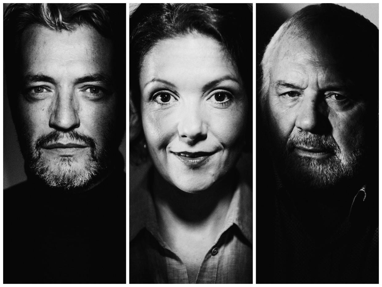 Kürt Rogiers, Tinneke Beeckman en Jean-Marie Dedecker. Beeld Stefaan Temmerman