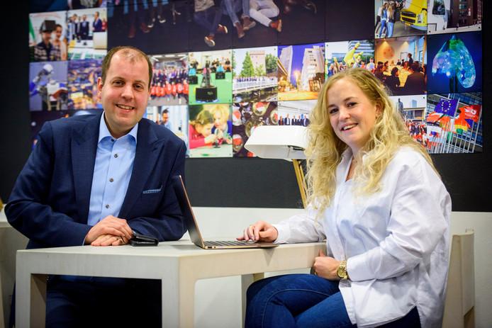 Directeur coöperatie SlimmerLeven2020 Marcel de Pender en Charel Klerkx.