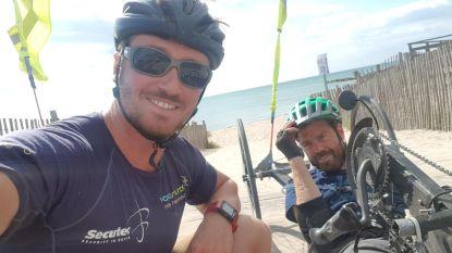 Sint-Amandsenaar rijdt 1.579 kilometer met handbike