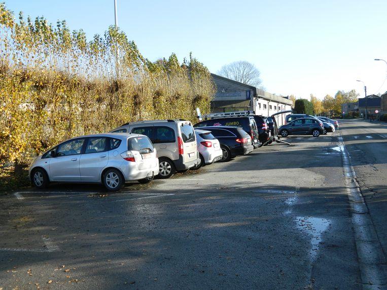 De parkeerplaatsen langs de Bellemdorpweg verdwijnen voor het nieuwe fietspad.