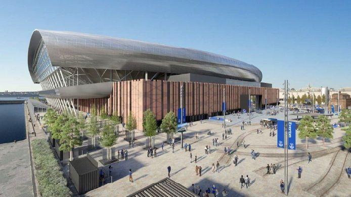 Het nieuwe stadion van Everton zal pas in 2024 of 2025 opengaan, maar zorgt nu al voor problemen.