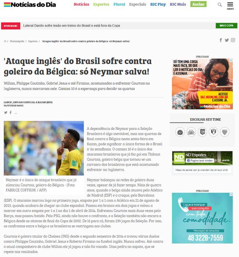 De vooruitblik van Noticias do Dia.