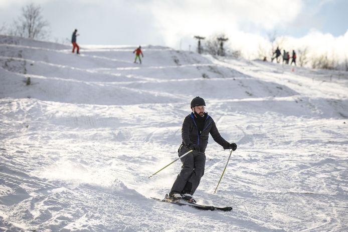 De skihelling bij -5