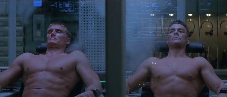Dolph Lundgren en Jean-Claude van Damme in Universal Soldier van Roland Emmerich. Beeld