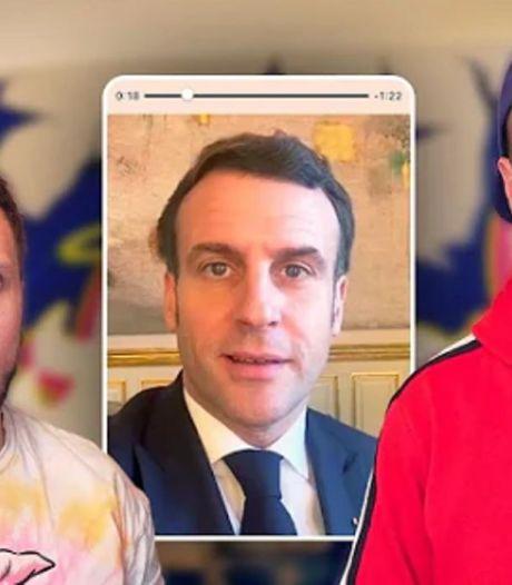 Emmanuel Macron lance un défi aux deux youtubeurs Mcfly et Carlito