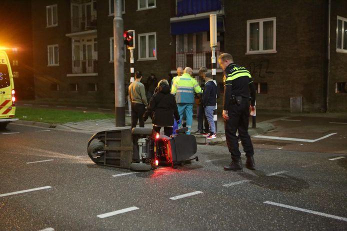 Ongeluk met scootmobiel in Arnhem, donderdagavond.