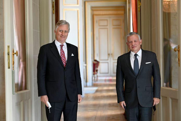 Koning Filip en de koning van Jordanië, Abdullah II.