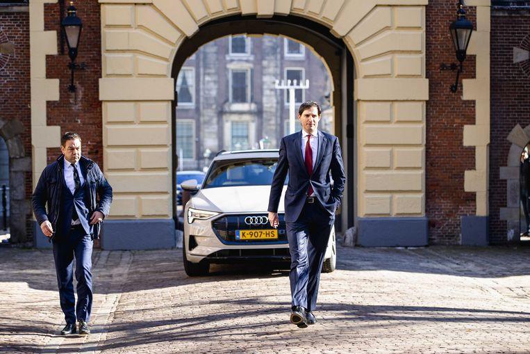 Wopke Hoekstra eerder deze week op het Binnenhof. Beeld ANP - Sem van der Wal
