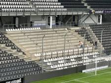 Supporters mogen niet meer staan, dus worden er bij Heracles razendsnel 625 stoelen gemonteerd