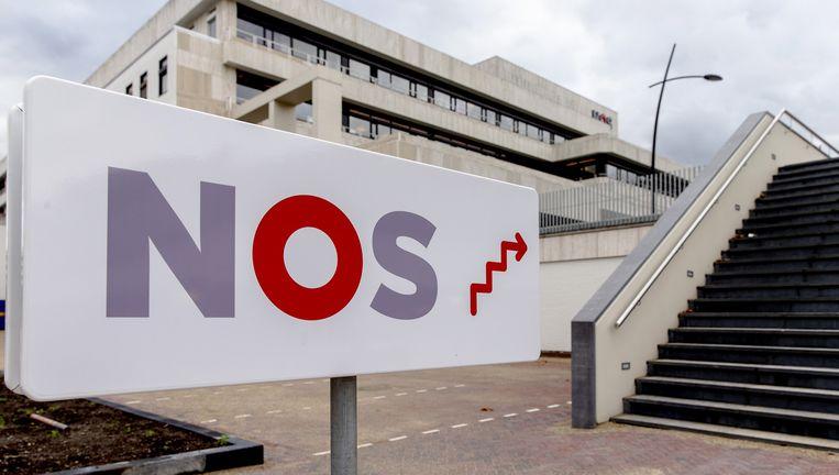 Exterieur van de NOS op het Hilversumse Media Park. Beeld ANP