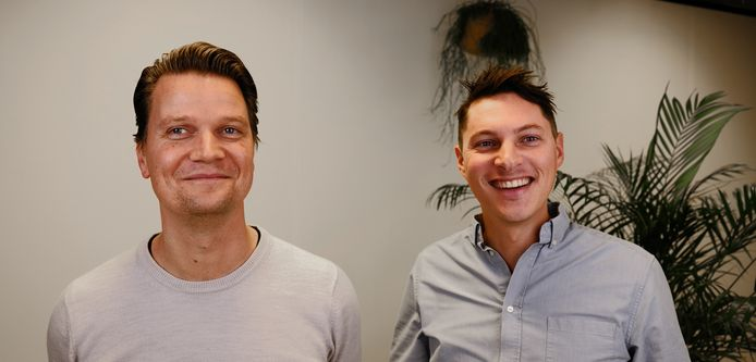 Peter Roelfsema (links) en Angelo Visser van Jobner