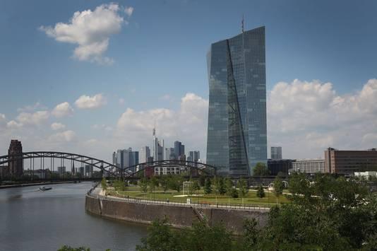 Het hoofdkantoor van de Europese Centrale Bank (ECB) in Frankfurt.