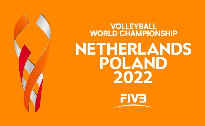 Logo WK volleybal in Ahoy 2022