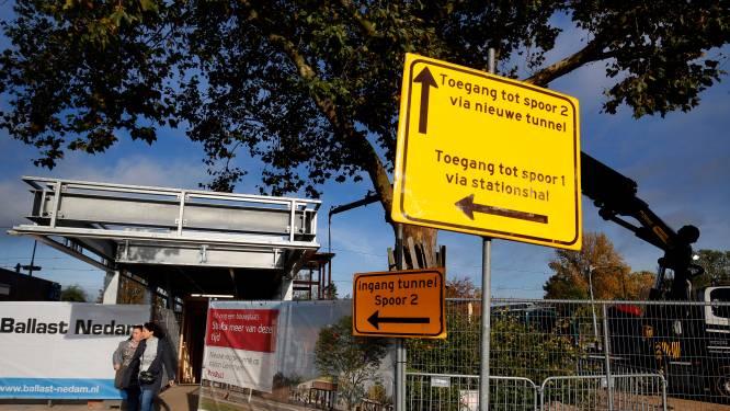 Treinreizigers kunnen in Gorinchem door de nieuwe tunnel, maar deze is nog verre van klaar