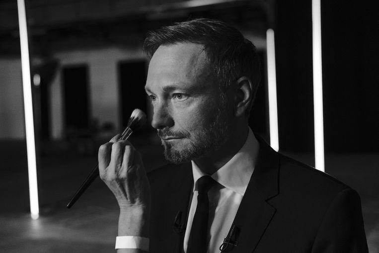 Christian Lindner, leider van de liberale FDP. Ambitie en onmiskenbare ijdelheid. Beeld Daniel Rosenthal