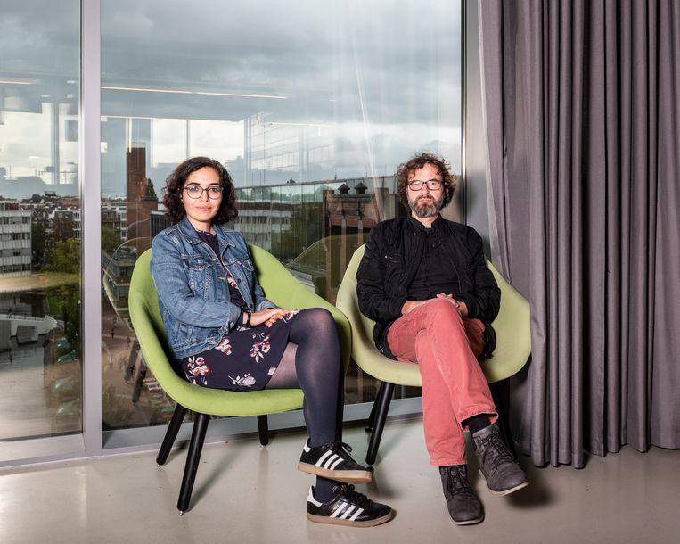 Nadia Fadil en Martijn de Koning.  Beeld Simon Lenskens