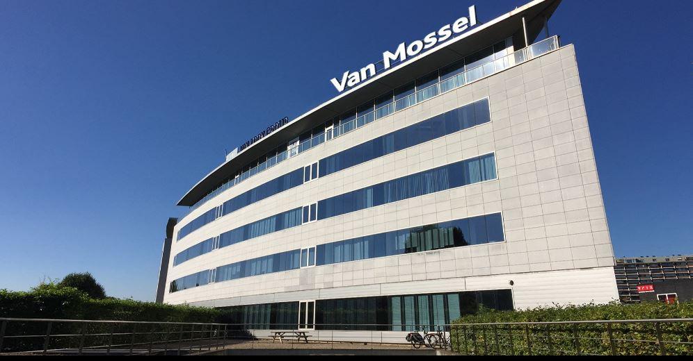 Het Belgische hoofdkantoor van Van Mossel in Antwerpen.