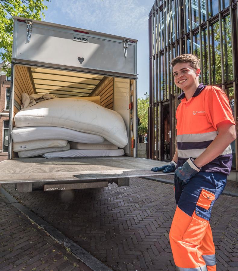 Oude matrassen ophaaldag bij Avalex.