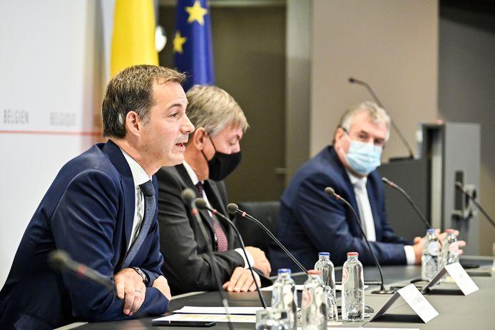 De persconferentie van het overlegcomité vorige week vrijdag, toen werd er niet versoepeld.
