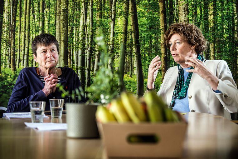 Catherine Verfaillie en Petra De Sutter  Beeld Bob Van Mol