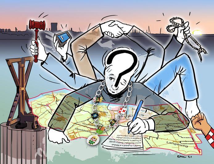 Wie moet de nieuwe burgemeester van Moerdijk worden? Het moet volgens de profielschets die de Brabantse commissaris van de koning dinsdagavond kreeg aangeboden iemand zijn die van vele markten thuis is, zeg maar een menselijke duizendpoot.