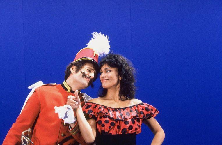 Frank Groothof en Astrid Seriese in de bewerking van Carmen in 1997. Beeld anp