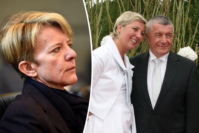 Ann-Lawrence Durviaux (links) en Nathalie Maillet, de directrice van het circuit van Spa-Francorchamps, met haar man, Franz Dubois.