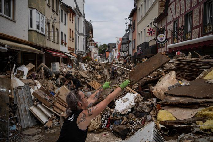 Een beeld van de ramp in Bad Neuenahr-Ahrweiler.